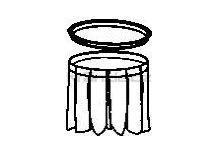 Soteco příklopka + těsnění k filtru Planet 1000 s bočním oklepem