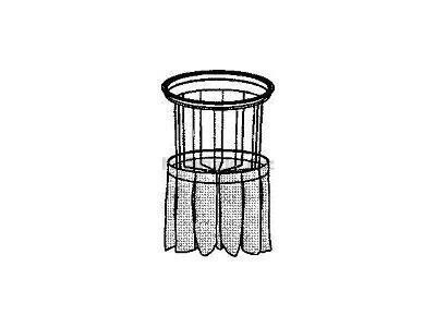 Soteco kompletní polyesterový filtr, typ T452, pro vysavače s postranním klepačem