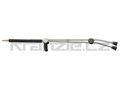 Kränzle dvojitá tryska dlouhá 1000 mm s otočnou rukojetí ISO a plastovým madlem (D12)