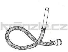 Soteco sací horkuodolná hadice, 3 m, pr. 40 mm, vstup 60 mm - kompletní