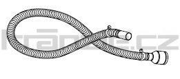 Soteco sací hadice NR/SBR, antistatická, antiabrazivní, 3 m, pr. 40 mm, vstup 60 mm