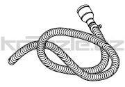 Soteco sací propojovací hadice NR/SBR, antistatická, antiabrazivní, 3 m, pr. 50 mm, vstup 70 mm, pro separátor