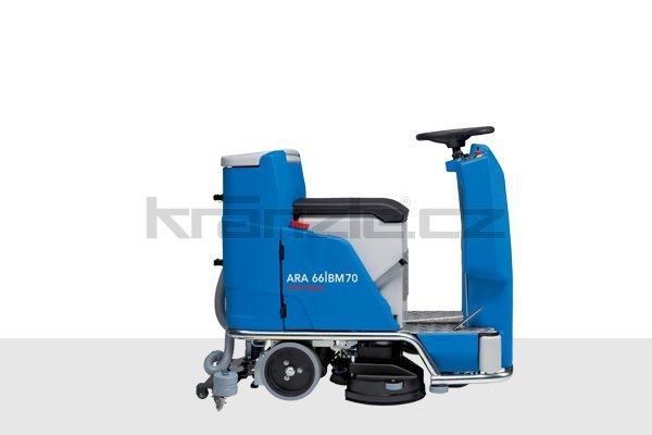 Podlahový mycí stroj pro sedící obsluhu Columbus ARA 66 BM 70 s příslušenstvím