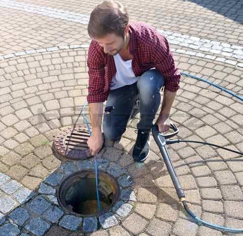 Kränzle kanalizační hadice na čištění potrubí 25m s tryskou KN055 (3+0), M22x1,5