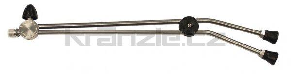Kränzle dvojitá tryska dlouhá 660 mm s otočným kohoutkem (M22x1,5)