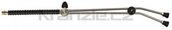 Kränzle dvojitá tryska dlouhá 1000 mm s otočným kohoutkem