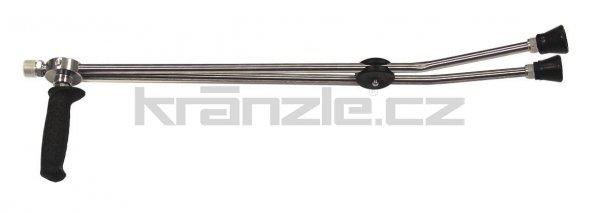 Kränzle dvojitá tryska dlouhá 660 mm s otočnou rukojetí ISO (M22x1,5)