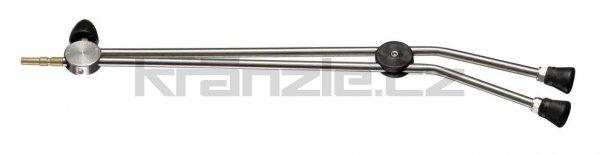 Kränzle dvojitá tryska dlouhá 660 mm s otočným kohoutkem (D12)