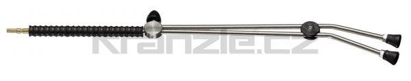 Kränzle dvojitá tryska dlouhá 1000 mm s otočným kohoutkem a plastovým madlem (D12)