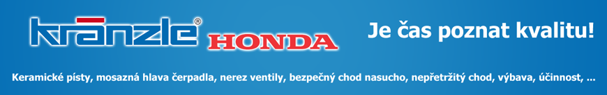 Čističe Kränzle s motorem Honda